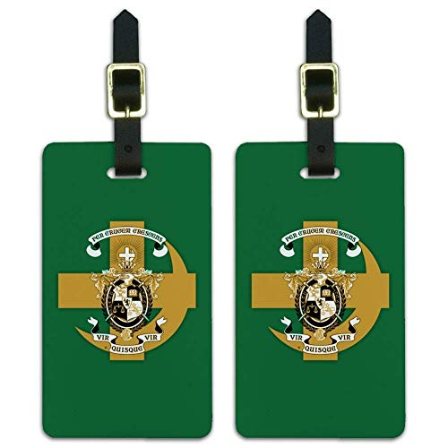 Lambda Chi Alpha Fraternity - Lambda Chi Alpha Fraternity Cross Crescent Logo Luggage ID Tags Cards Set of 2