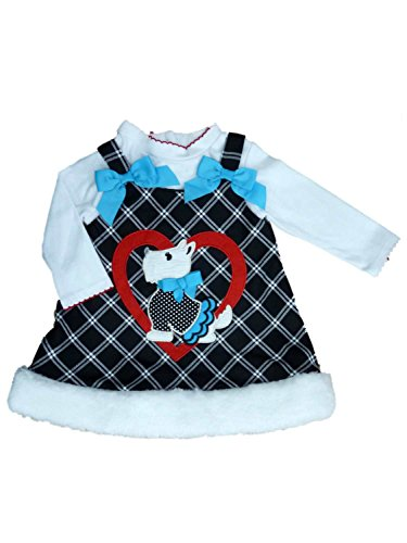Scottie Dog Dress - Youngland Infant Toddler Girls 2 PC Scottie Dog Dress Outfit Jumper Shirt 4T