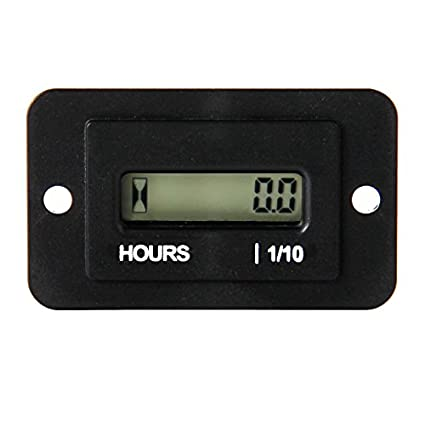 Runleader RL-HM010 DC AC hour meter with digital LCD display for Boat Tractor Generator Engine Mower Fork Light CAT Paramotors Microlights Marine Engines Cleaners and Chainsaws (DC4.5-90V) Ltd