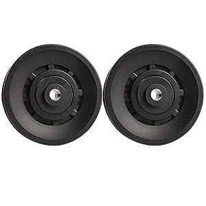 Topfinder 90mm Universal Bearing Pulley Wheel for Cable Machine Gym Equipment Part Garage Door