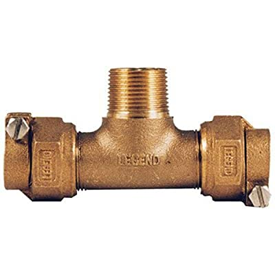 """LEGEND VALVE AND FITTING 313-384NL T-4440 No Lead Copper Tube Size Pack Joint X Male Iron Pipe Water Service Tee, 3/4"""""""