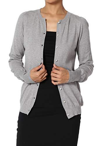 b50ac1cd0a TheMogan Basic Button Down V-Neck Long Sleeve Lightweight Knit Sweater  Cardigan