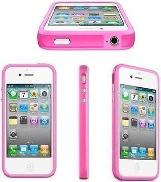iPhone 4 4S Bumper Silikon Handy Schutzhülle TPU Pink