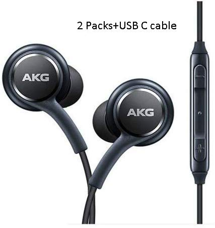 in Ear Stereo Headphones w/Microphone Compatible with Samsung Galaxy S10 S10 Plus S9/S9+ S8/S8+ Note8 / Note9-2019 100% Original Earbuds Remote + Mic with USB C Cable (Best Headphones For Samsung Galaxy)