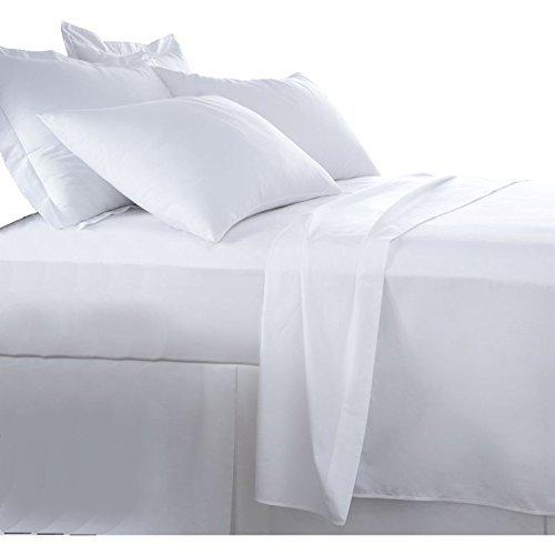Burrito Blanco Juego de Sábanas Blanco de Hostelería para Cama de Matrimonio de 180 cm x