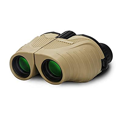 Crisol Compact Binoculars, 10x25 High Powerful Waterproof Binocular, Folding and Easy Focus for Adults and Kids with Bird Watching, Safari, Hiking, Travel, Concerts, Opera, Sport Games by Crisol