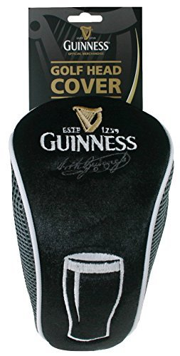 Guinness PInt Golf Head Cover - Black Polyester Embroidered Club - Designs Golf Embroidery