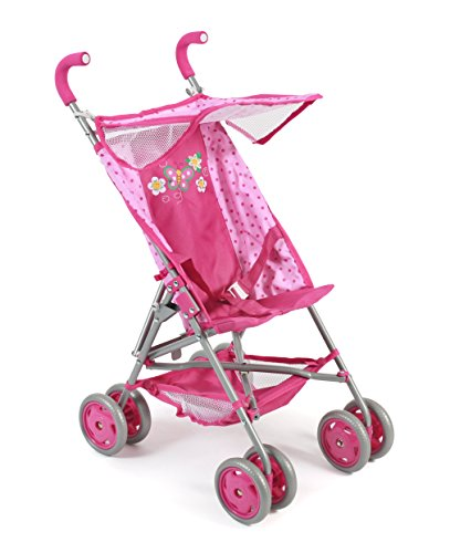 Bayer Chic 2000 623 31 Buggy VITA, for Dolls up to ca. 50 cm, Dots Pink