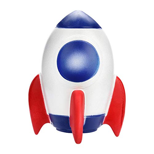 Drfoytg 2018 Hot,Stress Reliever Toys Rocket Squishy Toy Spaceship Decompression Slow Rising Squeeze Cream Scented Education (Multicolor)