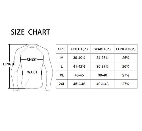 Baleaf Men's Cool Dry Skin Fit Long Sleeve Compression Shirt Black Size L