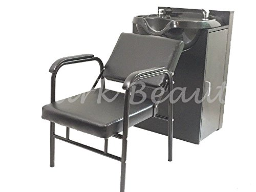 Round Shampoo Bowl Salon Sink with Shampoo Cabinet and Beauty Salon Chair TLC-B12-KRGT-B12C-216A