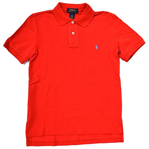 ys Classic Mesh Polo Shirt (Large / 14/16, African Red) ()