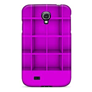 Top Quality Case Cover For Galaxy S4 Case With Nice Purple Shelf Appearance