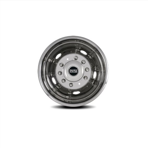 Pacific Dualies 43-3950 19.5'' Polished Stainless Steel Wheel Simulator Rear Tag Axle Kit for 2005-2014 Ford F450/F550 Truck RV Motorhome