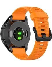 Tosenpo Armband för Fenix 5, ersättningsarmband i silikon för Garmin Forerunner 945/Fenix 5/Fenix 5 Plus/Fenix 6/Fenix 6 Pro/Forerunner 935