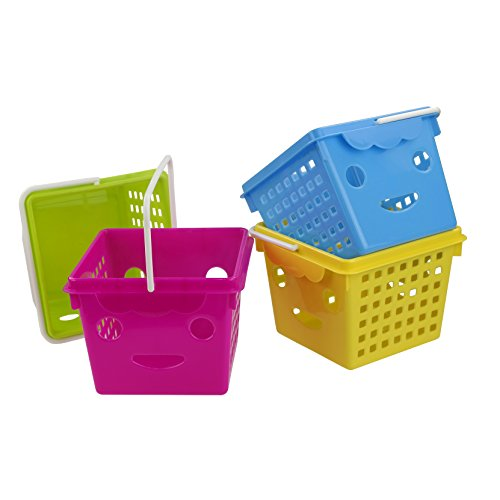 Eagrye Small Classroom Storage Baskets With Handle, Set of 4