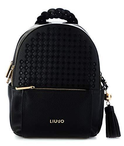 d0cda866bb0c Liu Jo Women s N19264e005822222 Black Leather Backpack
