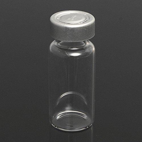 QOJA 10set 10ml vials bottles with stopper caps for 20mm hand crimper
