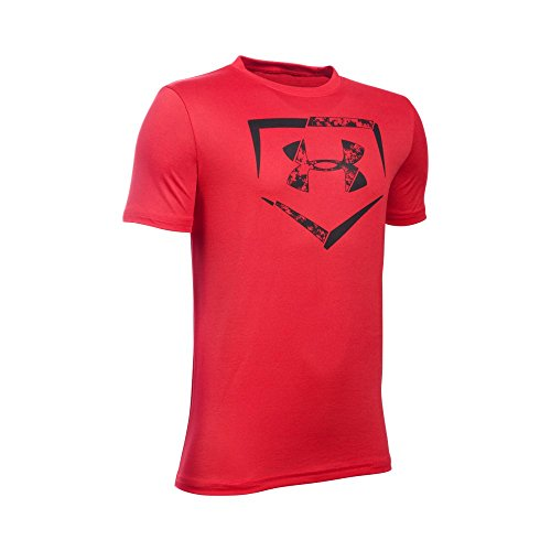 Under Armour Boys' Diamond Logo T-Shirt, Red/Black, Youth X-Large