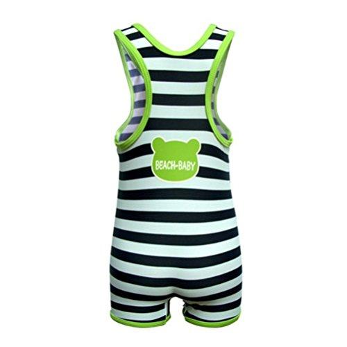Little Hand Little Boys' Black White Strip Frog One Piece Swimsuit swimwear 1-6Y