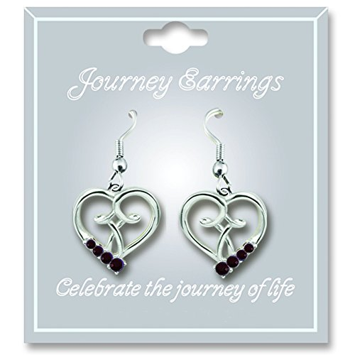 Cathedral Art JE101 January Garnet Birthstone Earrings