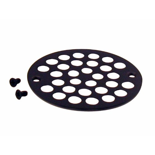 SNSdirect Original 4 in. O.D. Shower Strainer Cover Plastic-Oddities Style in Oil Rubbed Bronze Order Only From Seller SNSdirect to Assure Correct and Quality Product - 4 Shower Strainer