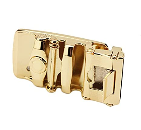 Bullit Mens Leather Belt Automatic Buckle Brown