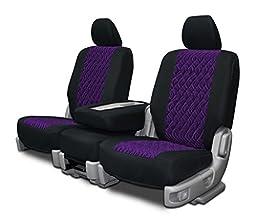Custom Seat Covers for Toyota Rav4 Rear Split Bench Purple Neo-Diamond