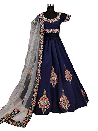 Delisa Semi Stitch Indian/Pakistani Fashion Choli Women (Blue) by Delisa