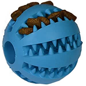 Zenify Puppy Toys Dog Toy Puppy Treat Training Behaviour Ball - Interactive Stimulation Gift for Smarter Dogs and Puppies (Blue (Large))