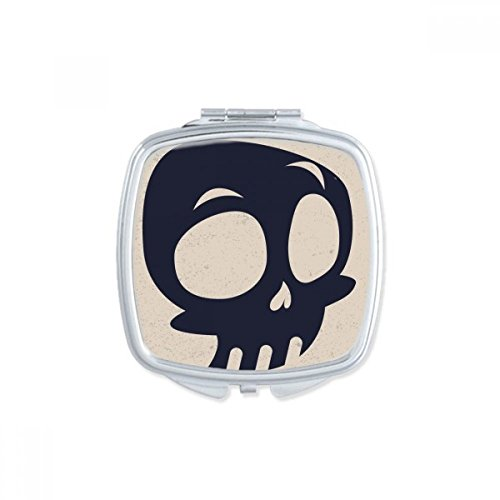 (DIYthinker Halloween Big Eyed Skeleton Square Compact Makeup Pocket Mirror Portable Cute Small Hand Mirrors)