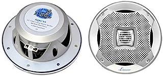 Lanzar Pyle 400W 5.25-Inch 2-Way Marine Speakers AQ5CXW (White)