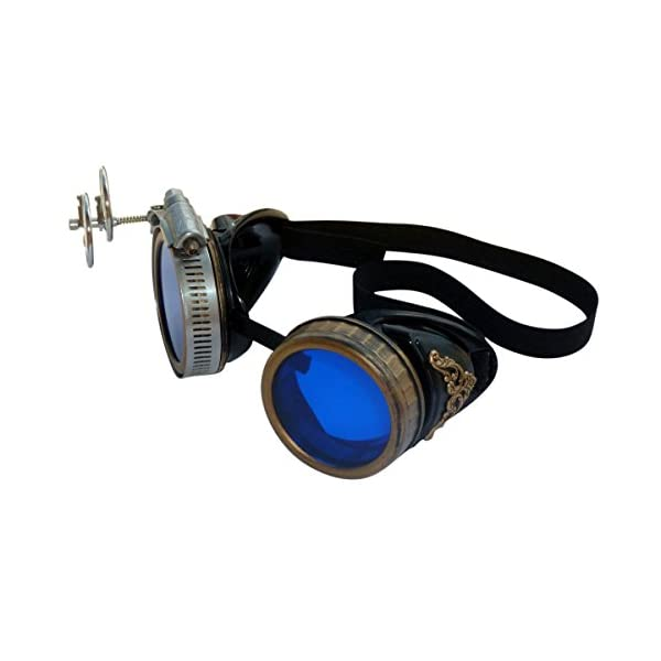 Handmade Steampunk Victorian Style Goggles with Vintage Filigree Decoration, Costume Novelty Accessory 5