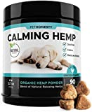 PetHonesty Hemp Calming Treats for Dogs - All-Natural Soothing Snacks with Hemp + Valerian Root, Stress & Dog Anxiety Relief- Aids with Thunder, Fireworks, Chewing & Barking (Chicken, 90ct) Larger Image