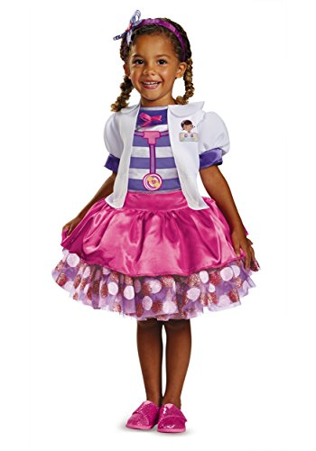 [Disguise Disney Doc Mcstuffins Tutu Deluxe Toddler Costume, Medium/3T-4T] (Doctor Costumes For Toddlers)