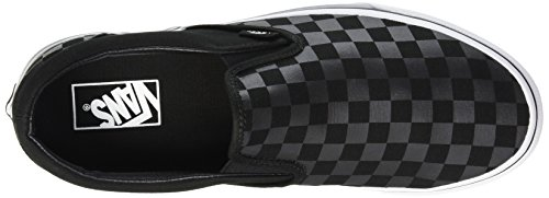 pewter Noir Black Mixte Baskets Basses Slip checkerboard Vans 276 Adulte Classic on 0FH1nv7