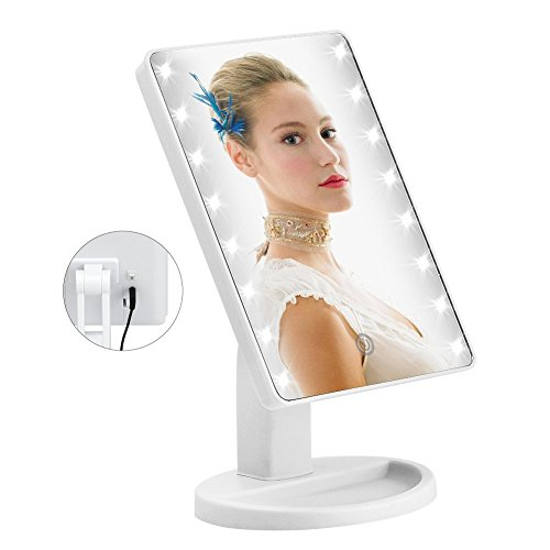 Find Bargain KYG 16 LED Makeup Mirror Using USB Charging with Touch Screen