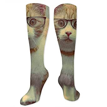 Amazon.com: Compression Socks Funny Cat with Sunglasses