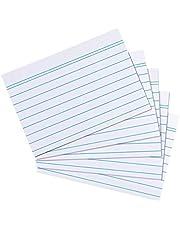 Systeemkaarten A8, gelinieerd, wit, 200 stuks