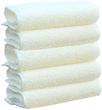 Bamb/ù L White Shelley commerce bamb/ù fibra doppia ispessita cucina strofinaccio canovaccio colore bianco 5 count 30*26cm