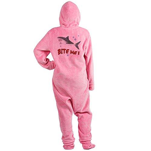 CafePress - Shark - Bite Me - Novelty Footed Pajamas, Funny Adult One-Piece PJ Sleepwear (Shark Footed Pajamas Adult)