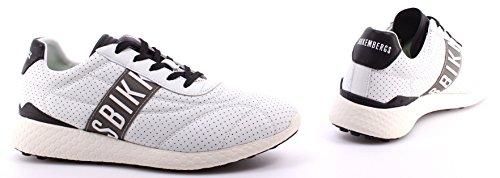 Scarpe Uomo Sneakers BIKKEMBERGS BKE 108771 Strik ER895 Leather Fabric White