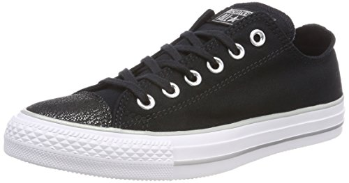 Converse Womens Chuck Taylor All Star Ox Casual Scarpa Nera