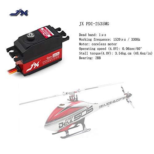 (Yoton Accessories JX PDI-2535MG 25g Metal Gear Digital Coreless Tail Servo for RC TREX Align 450 500 ALZRC Devil 420 380 505 Helicopter Fixed-Wing)