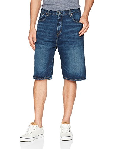 (Levi's Men's 569 Loose Straight Denim Shorts, Garland - Stretch, 44)