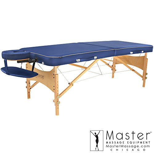 Bermuda Blue Package - Master Massage Bermuda Portable Massage Table Package, Blue, 30 Inch