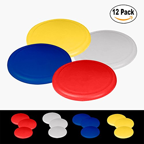 Kidsco Flying Discs, Frisbee's - 12 Pack 4 bright Colors - For Boys And Girls – By by Kidsco