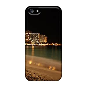 Iphone 5/5s Case Slim [ultra Fit] Night Coast Landscape Protective Case Cover