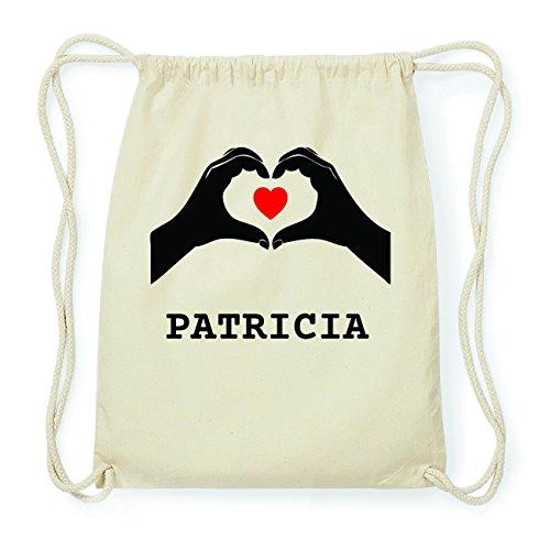 JOllify PATRICIA Hipster Turnbeutel Tasche Rucksack aus Baumwolle - Farbe: natur Design: Hände Herz xFFbu7