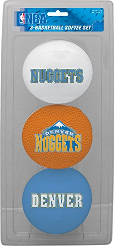 fan products of NBA Denver Nuggets Kids Softee Basketball (Set of 3), Small, Blue